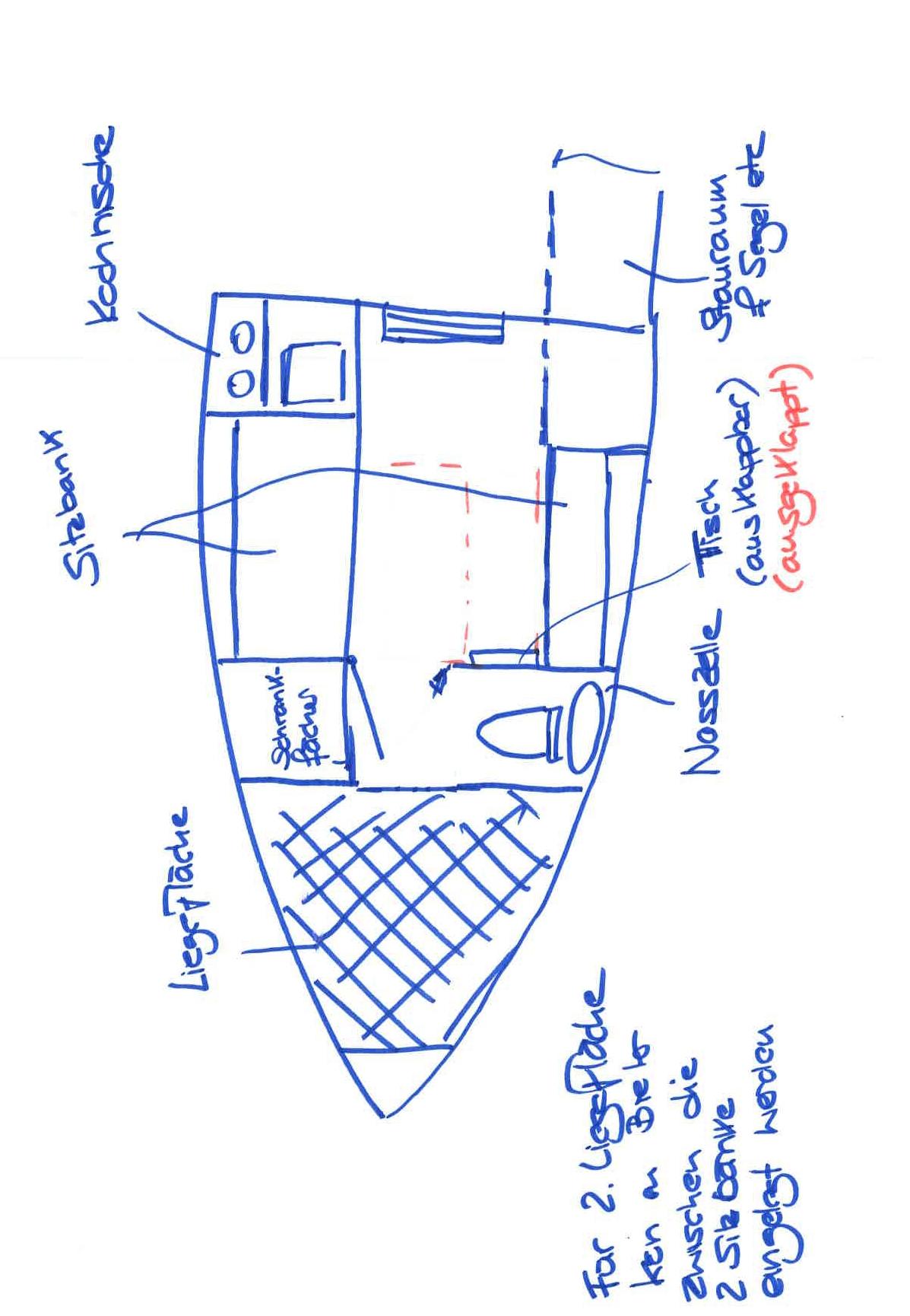Grundriss- Innenraum (schematisch)